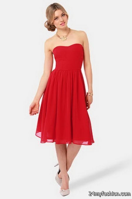 Strapless red dresses review