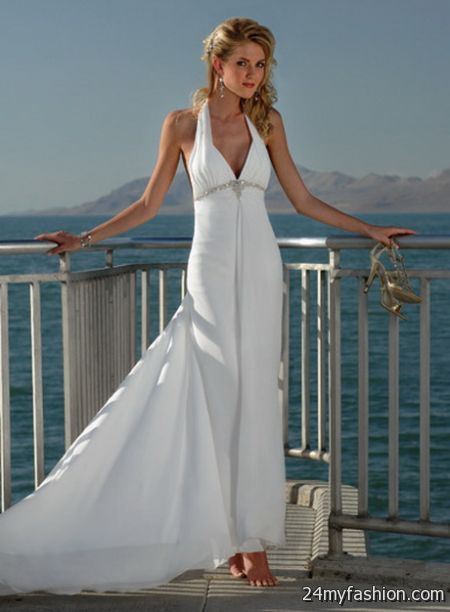 Summer beach wedding dress review