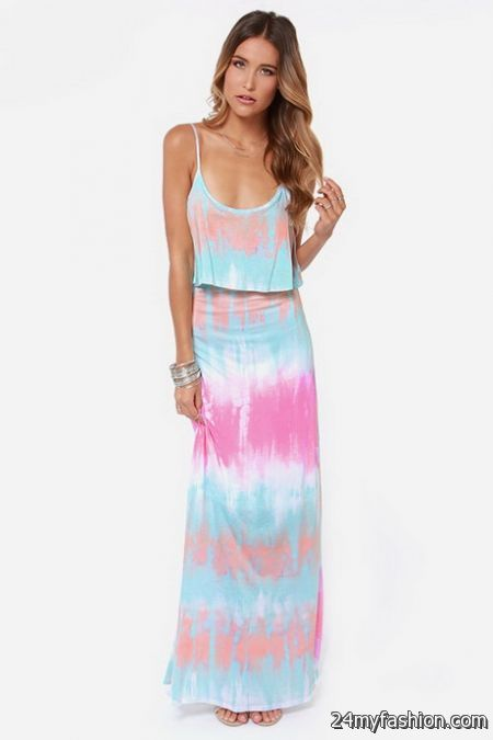 Tie dyed maxi dresses review