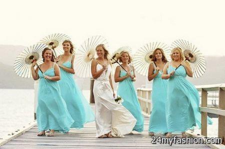 Tropical bridesmaid dresses
