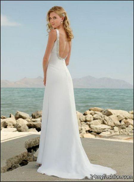 Wedding dress for a beach wedding