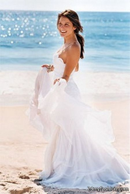 Wedding dresses beach ceremony