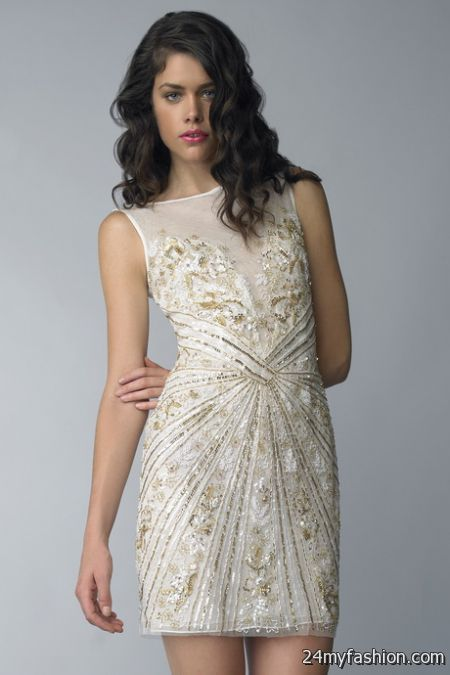 White beaded dress review