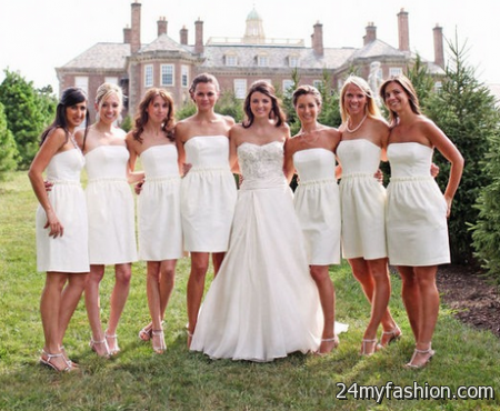 White bridesmaids dresses review