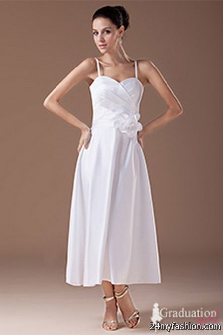 White graduation dresses long review