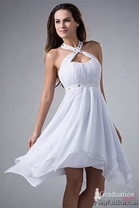 White high school graduation dresses review