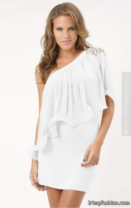 White one shoulder dress review