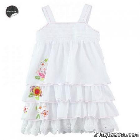 White summer dresses for girls