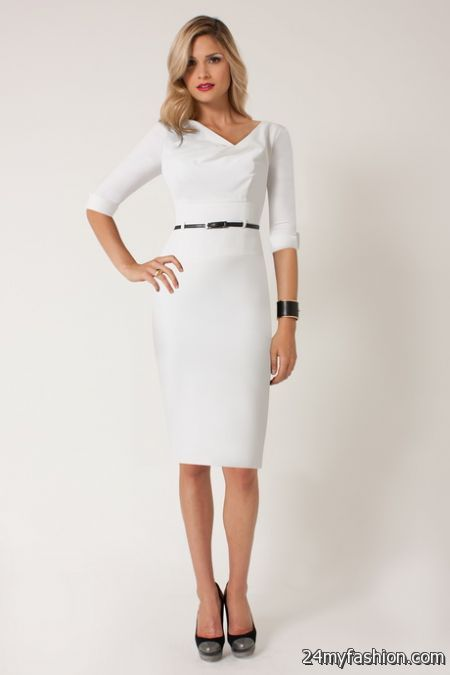 White winter dress review