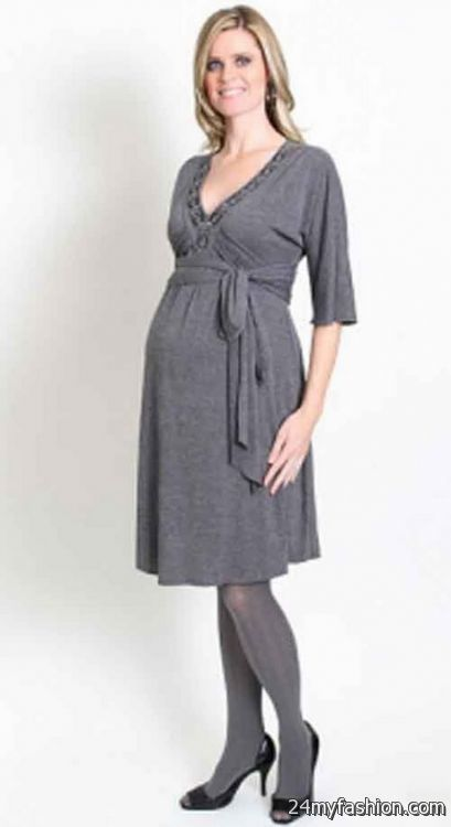 Winter maternity dress