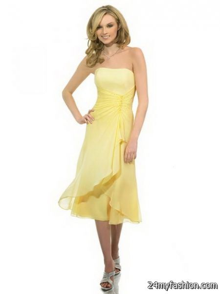 Yellow bridesmaid dress review