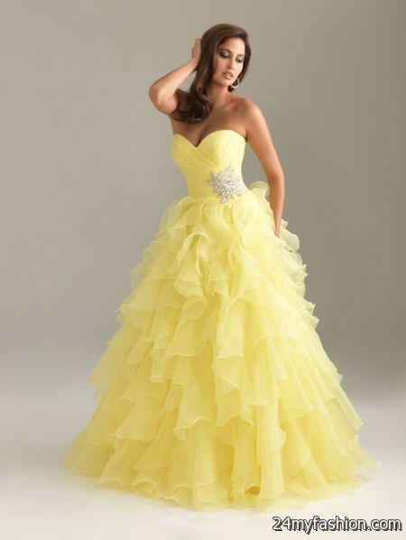 Yellow graduation dresses