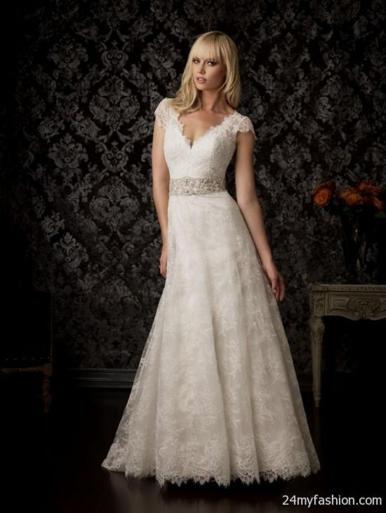 antique gold lace wedding dress