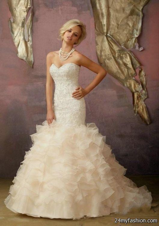 beige mermaid wedding dress