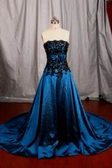 black and blue wedding dresses