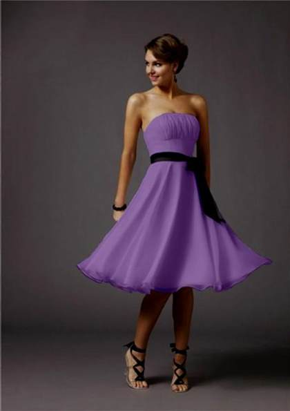 black and purple cocktail dress