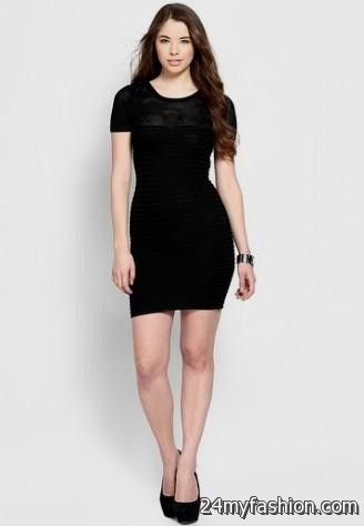 black bodycon dress short sleeve review