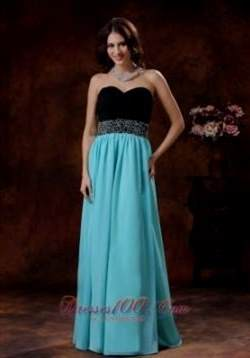 blue and black prom dress