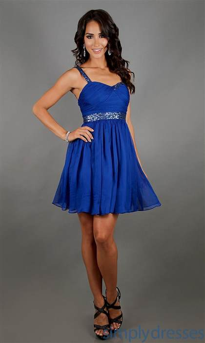 blue dresses with straps