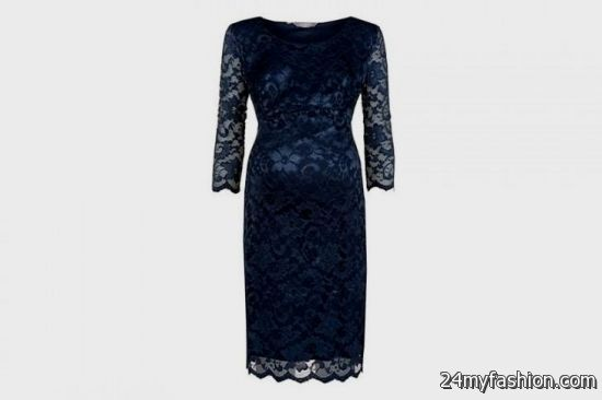 blue lace maternity dress review