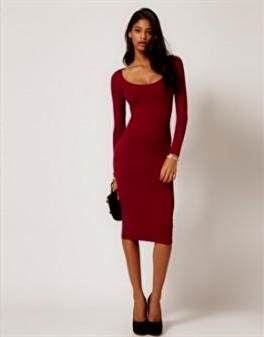 bodycon dress with sleeves
