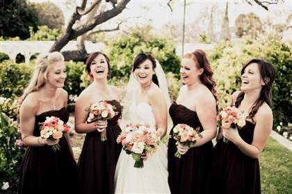 brown bridesmaid dresses