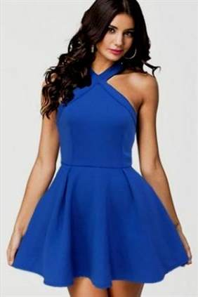 casual blue dresses for juniors