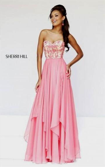 coral lace prom dresses