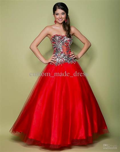 corset prom dress red