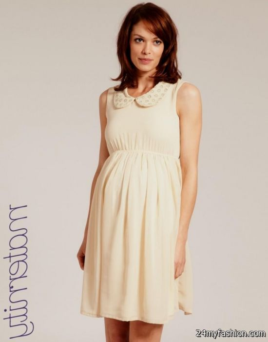 cream maternity dress review