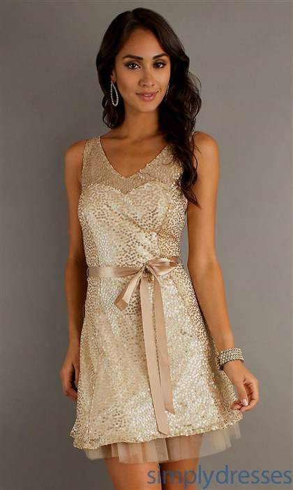 gold party dresses for juniors