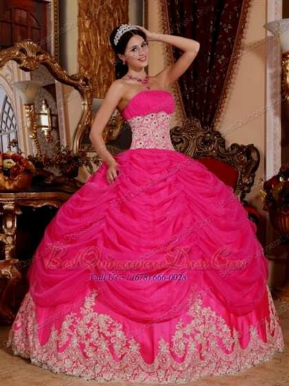 hot pink ball gowns
