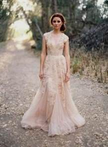lace blush bridesmaid dresses
