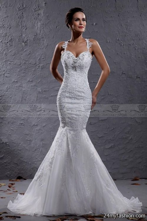 lace mermaid wedding dress with straps review