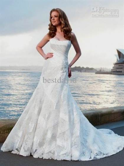 lace strapless beach wedding dresses