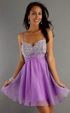 lavender homecoming dresses with straps