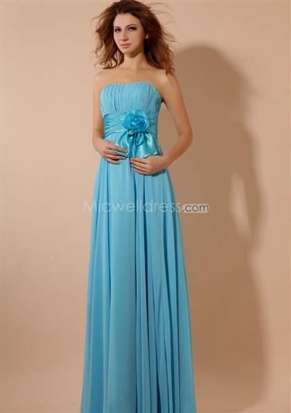 light blue chiffon bridesmaid dresses