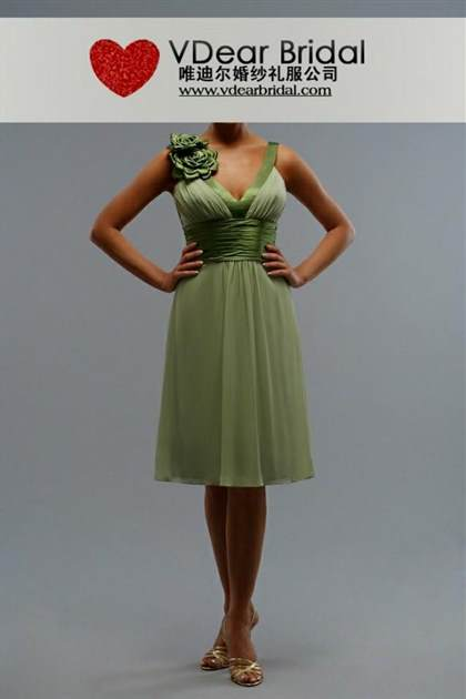 light olive green bridesmaid dresses