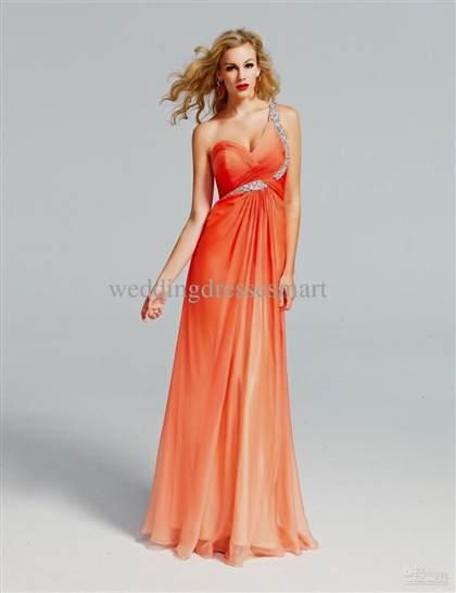 light orange prom dresses