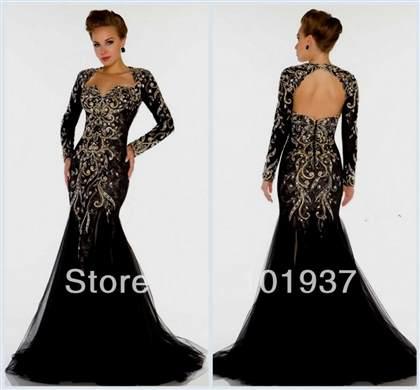 long black lace prom dresses