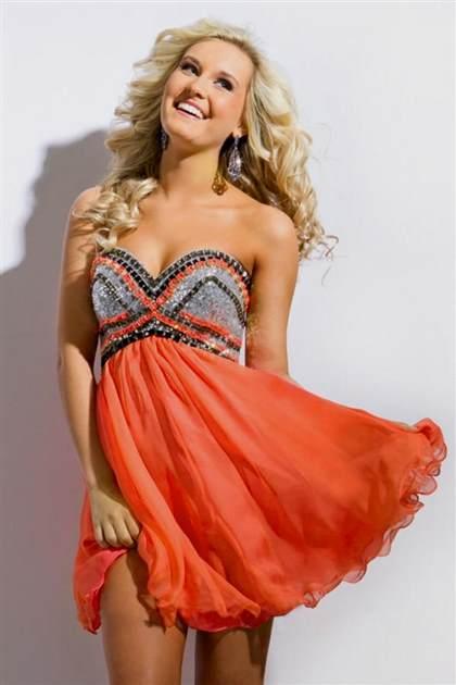 orange short homecoming dress