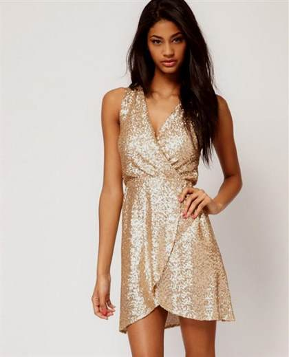 party dress gold