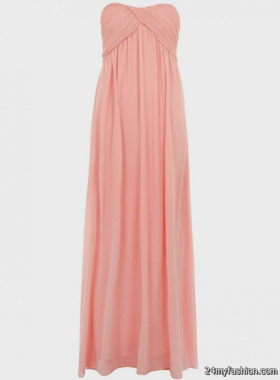pink maternity maxi dress review
