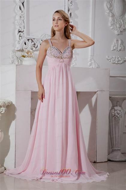 pink prom dresses with straps