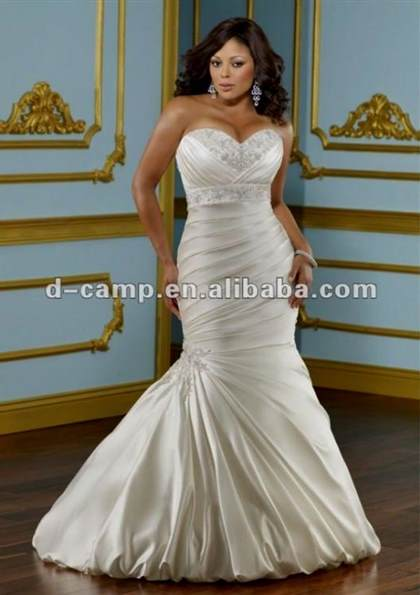 plus size fit and flare wedding dresses with sleeves