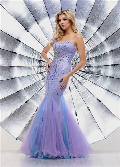 purple mermaid prom dress