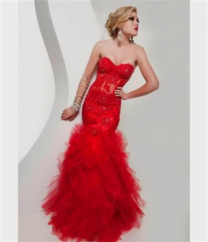 red and black mermaid wedding dresses