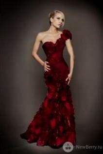 red couture evening gowns