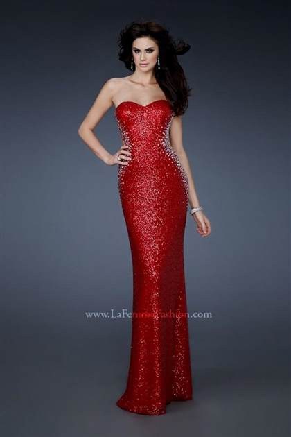 red sweetheart mermaid prom dress