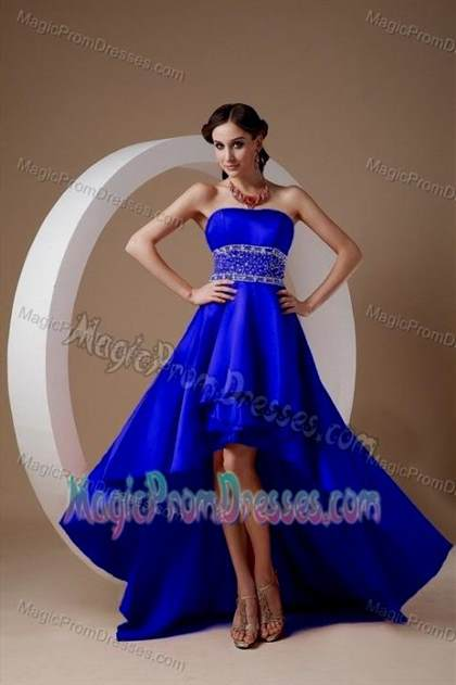 royal blue prom dresses high low